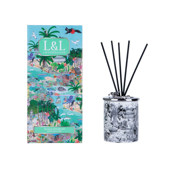 Praslin, Seychelles Porcelain Reed Diffuser - Shopidpearl
