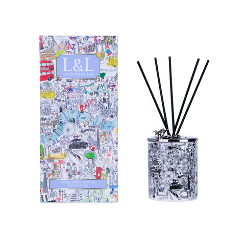 Dover Street, London Porcelain Reed Diffuser - Shopidpearl