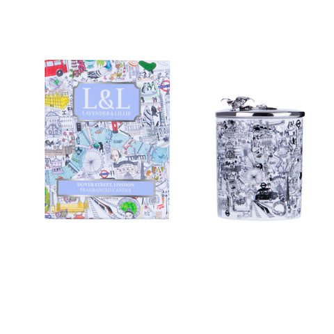 Dover Street, London Porcelain Candle - Shopidpearl