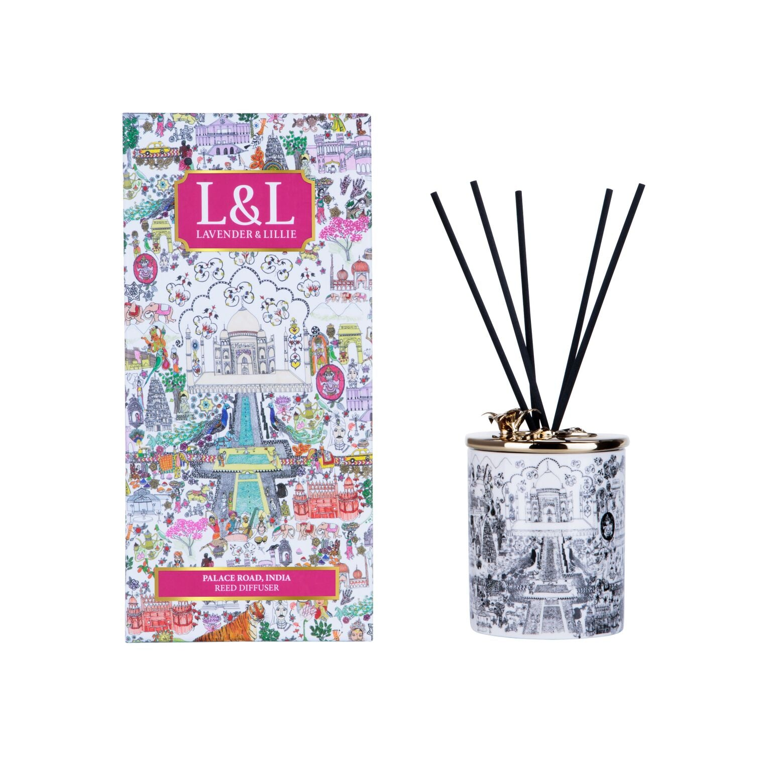 Palace Road, India Porcelain Reed Diffuser - Shopidpearl