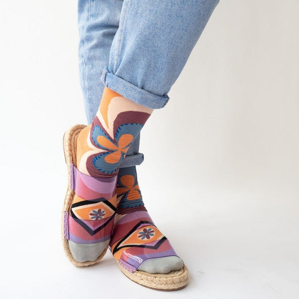 Adobe Rosette Socks - shop idPearl