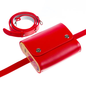 Red Saffiano Leather Bag Blizzard - MY-SOUT