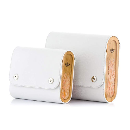 White Saffiano Leather Bag Blizzard - MY-SOUT