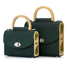 Load image into Gallery viewer, Green Woven Pattern Leather Bag Aurora - MY-SOUT
