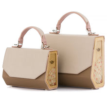 Load image into Gallery viewer, Beige & Cappuccino Saffiano Leather Bag Fjord - MY-SOUT