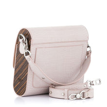 Load image into Gallery viewer, Beige Crocodile Embossed Leather Bag Gloria - MY-SOUT