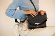 Load image into Gallery viewer, Black Saffiano Leather Bag Gloria - MY-SOUT