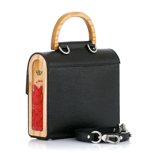 Black and Red Saffiano Leather Bag Aurora - MY-SOUT