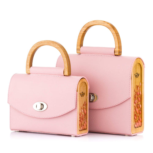Pink Saffiano Leather Bag Aurora - MY-SOUT
