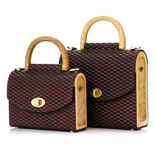 Purple Woven Pattern Leather Bag Aurora - MY-SOUT