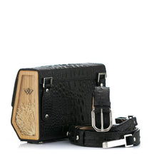 Load image into Gallery viewer, Crocodile Embossed Leather Belt Bag Fjord - MY-SOUT