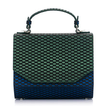 Load image into Gallery viewer, Woven Pattern Green & Blue Leather Bag Fjord - MY-SOUT