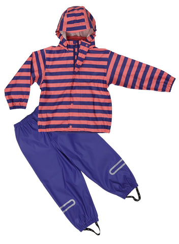 Elka Rainsuit Multicolour - Pink/Purple