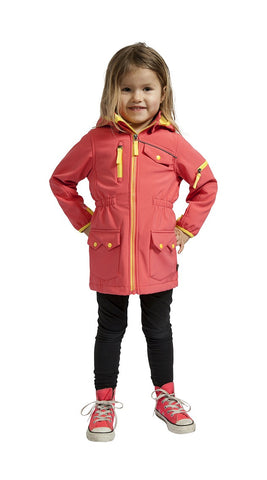 Elka Girls Softshell Long Jacket - Coral