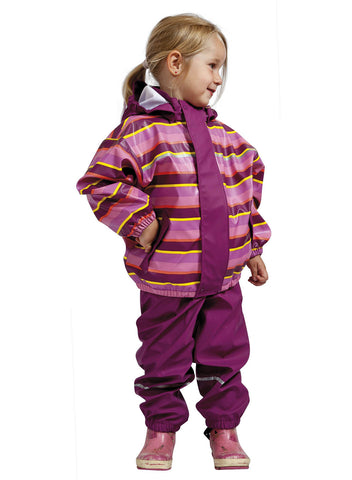 Elka Rainwear purple stripes