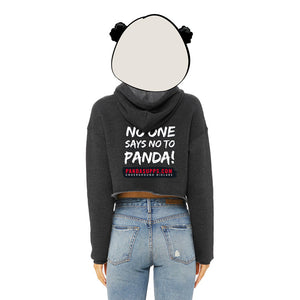 Women's Charcoal Crop Fleece Hoodie