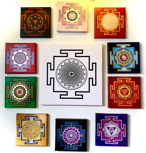 Shiva & Ten Great Cosmic Powers YANTRAS  New Collection