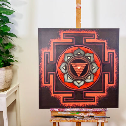 YANTRA of the Great Cosmic Power KALI