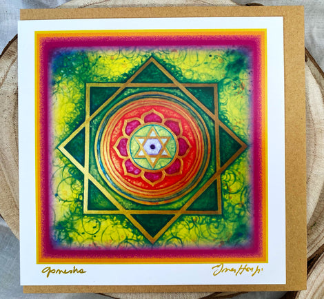 YANTRA Greeting card GANESHA