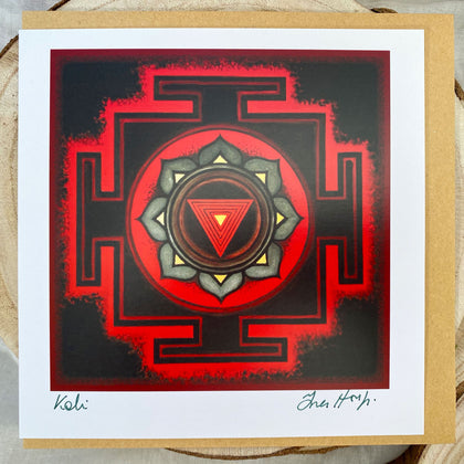 YANTRA Greeting card KALI