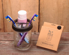 Load image into Gallery viewer, Mason Jar Toothbrush Holder Lid