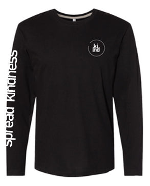 Black Spread Kindness Long Sleeve Tee