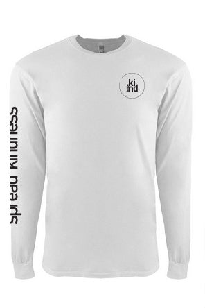 White Spread Kindess Long Sleeve Tee (youth)