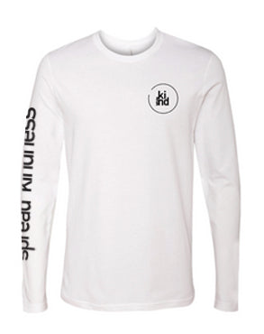 White Spread Kindness Long Sleeve Tee