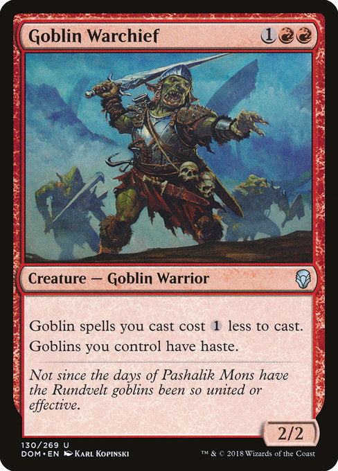 Goblin Warchief [Dominaria] | Lvl Up Gaming UK