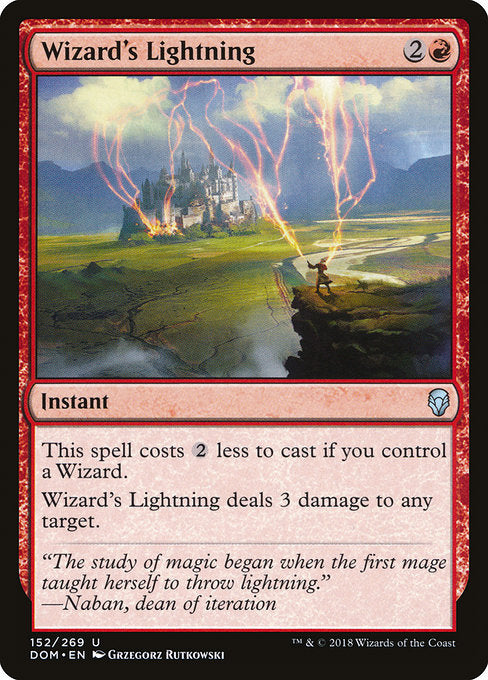 Wizard's Lightning [Dominaria] | Lvl Up Gaming UK