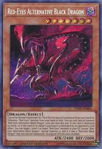 Red-Eyes Alternative Black Dragon [2019 Gold Sarcophagus Tin] [TN19-EN005] | Lvl Up Gaming UK
