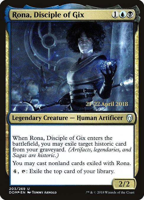 Rona, Disciple of Gix [Dominaria Promos] | Lvl Up Gaming UK