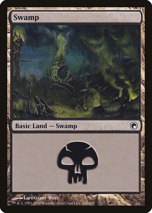 Swamp (240) [Scars of Mirrodin] | Lvl Up Gaming UK