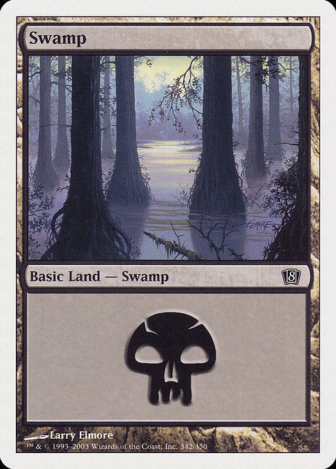 Swamp (342) [Eighth Edition] | Lvl Up Gaming UK