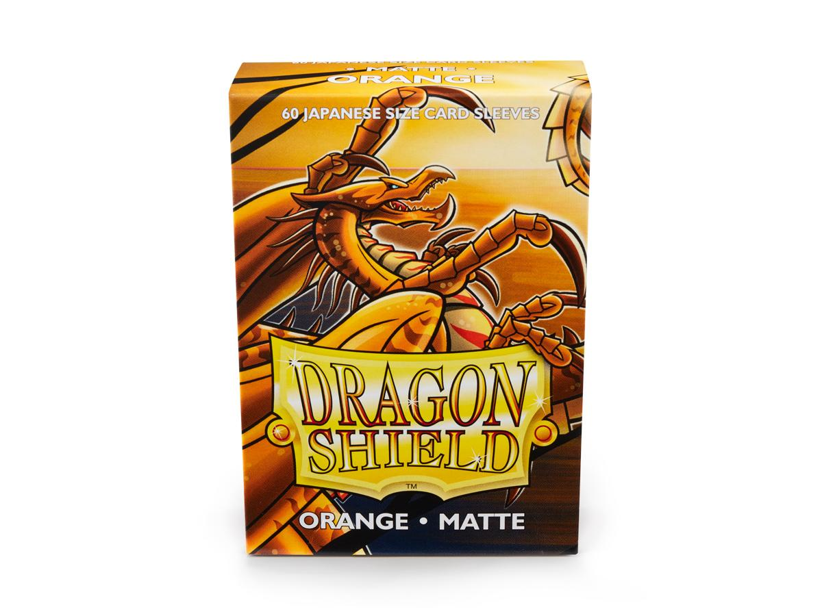Dragon Shield 60 Japanese Size Matte Sleeves - Orange | Lvl Up Gaming UK