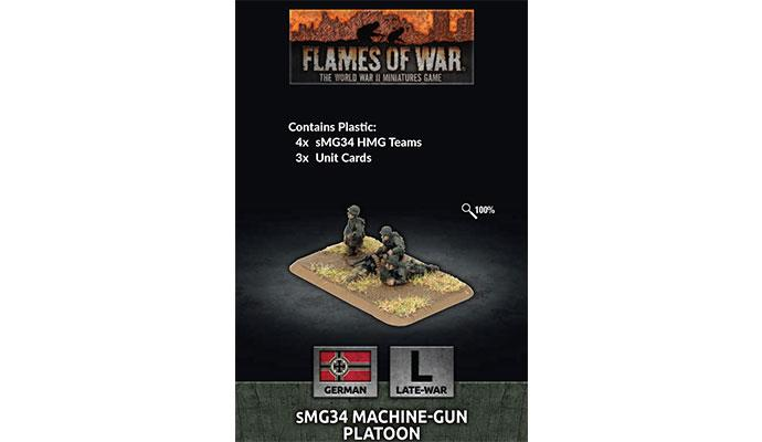 Flames of War MG34 Machine-gun Platoon (x4 Plastic) | Lvl Up Gaming UK