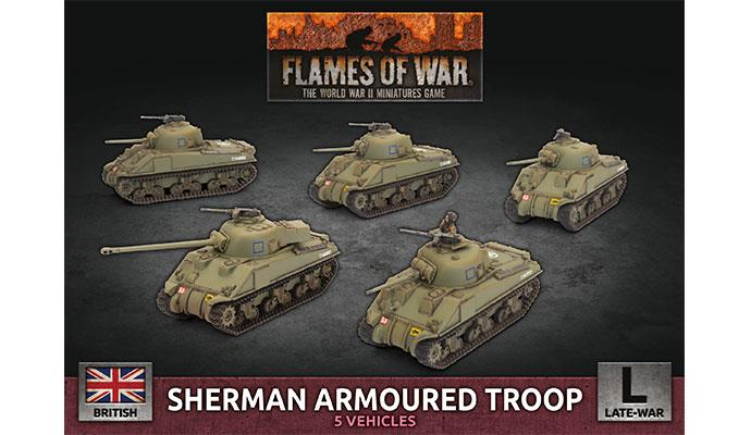 Flames of War Sherman Armoured Troop (Plastic) | Lvl Up Gaming UK