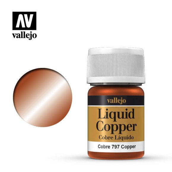 Vallejo Paint - Liquid Copper 70.797 | Lvl Up Gaming UK