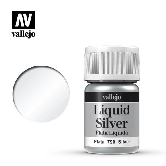 Vallejo Paint - Liquid Silver 70.790 | Lvl Up Gaming UK