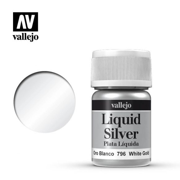 Vallejo Paint - Liquid White Silver 70.796 | Lvl Up Gaming UK