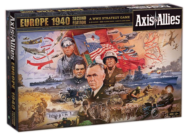 Avalon Hill Board Game Axis & Allies Europe 1940 2nd Edition | Lvl Up Gaming UK