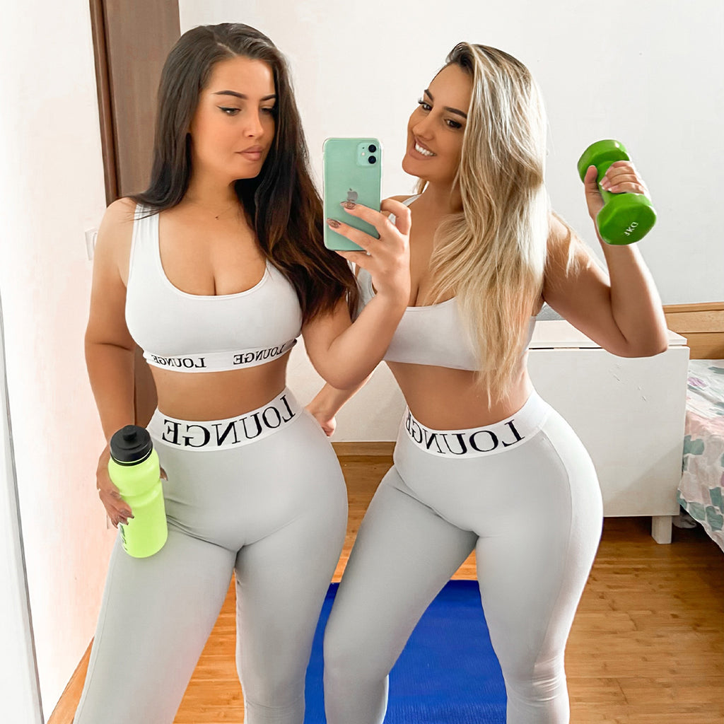 Friends Working Out at home