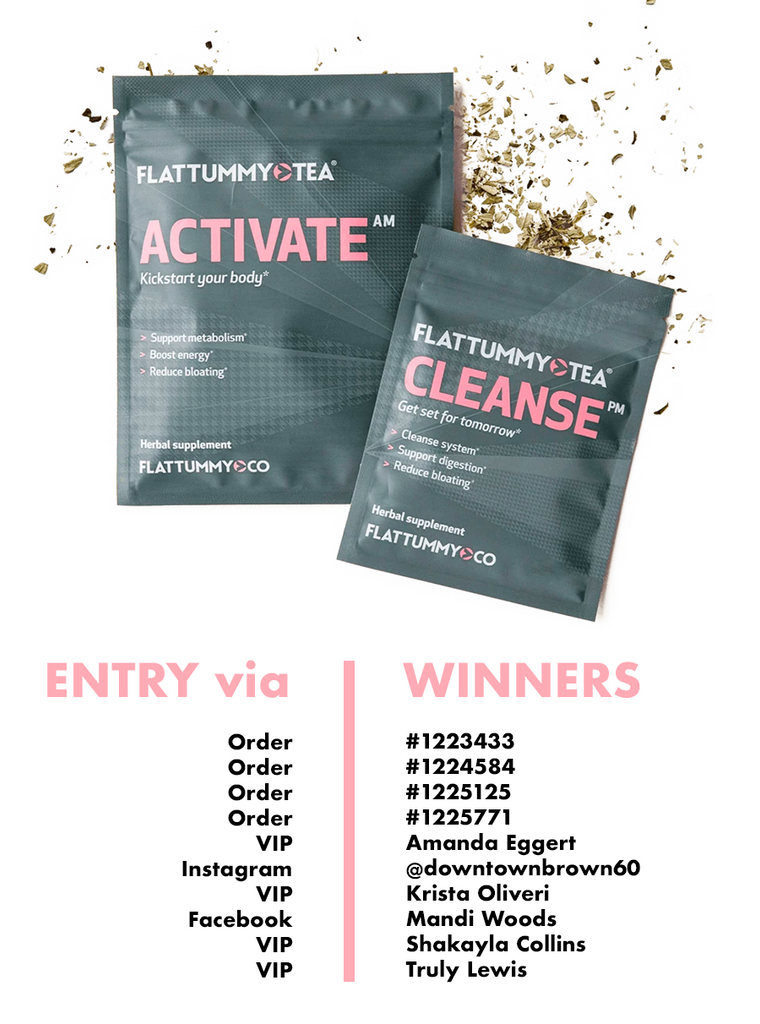 Flat Tummy Tea Winners