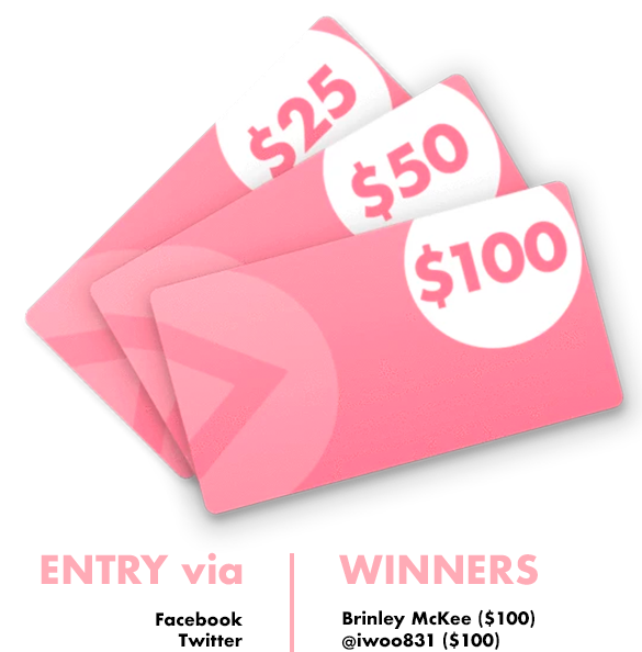Flat Tummy Week 5 Gift Card Winners
