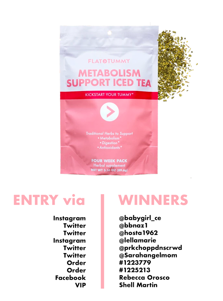 Metabolism Iced Tea Winners