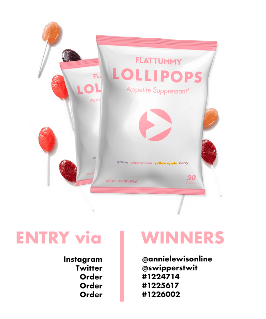 Flat Tummy Lollipops Winners