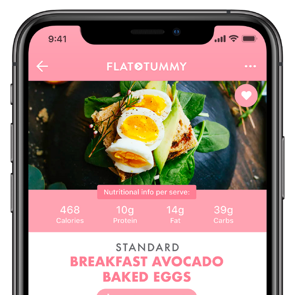 Flat Tummy App: Meal Plan Options