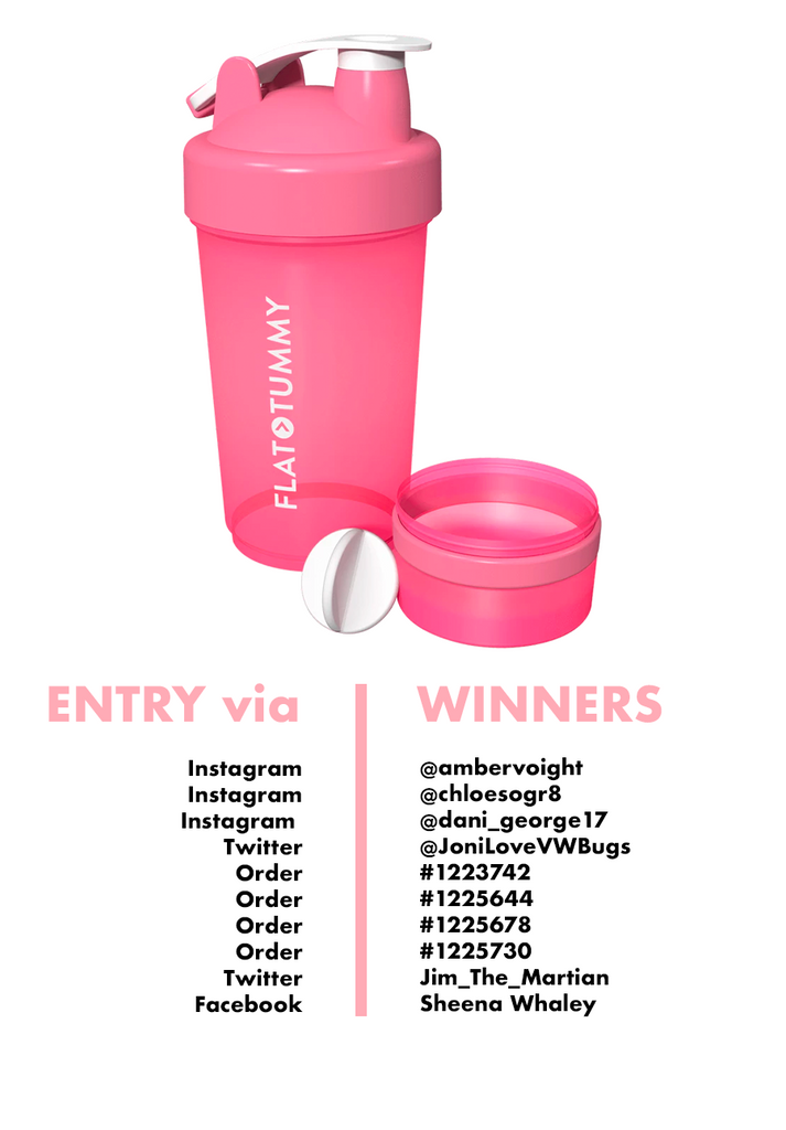 Flat Tummy Shaker Bottle Winners