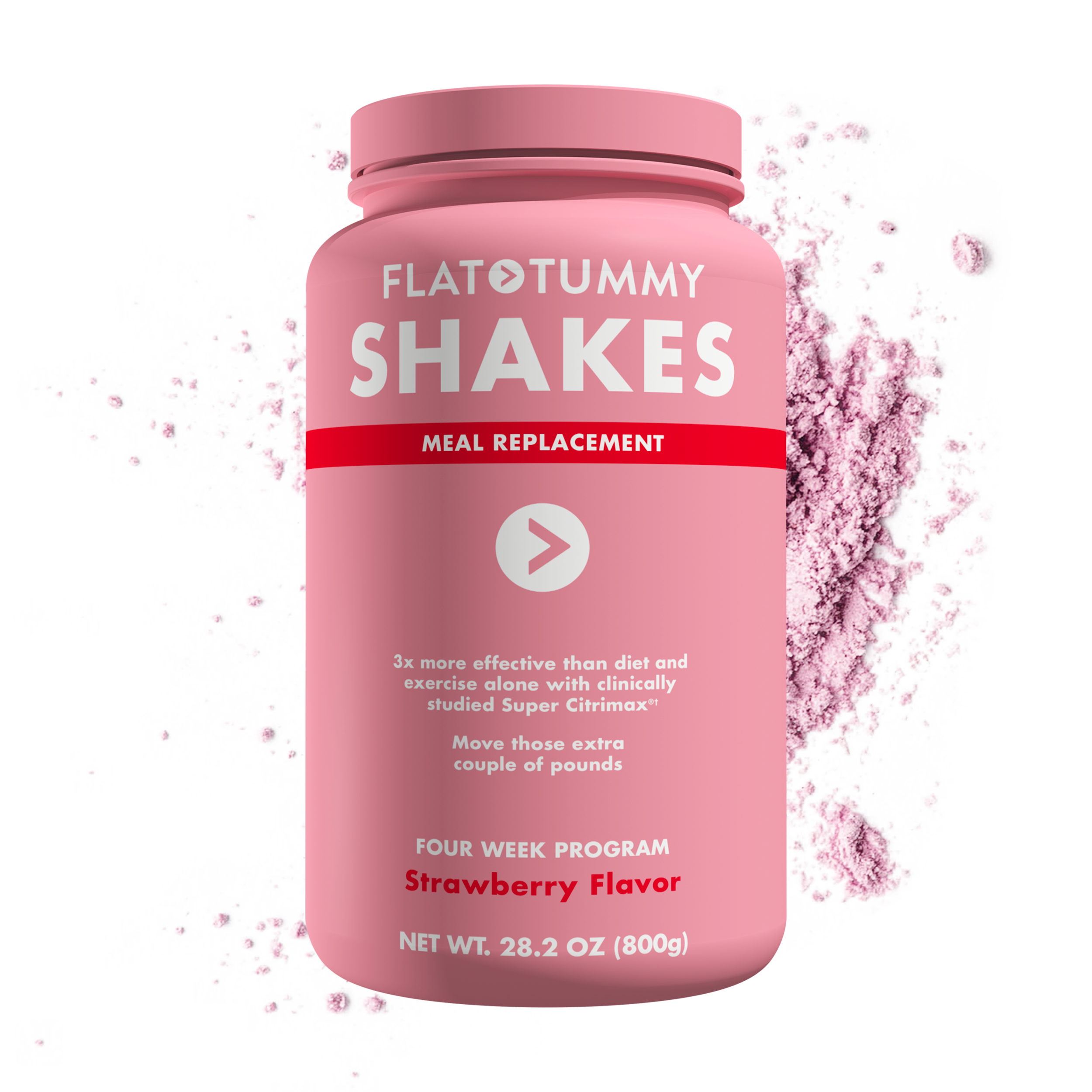 Flat Tummy Shakes Strawberry 4 week