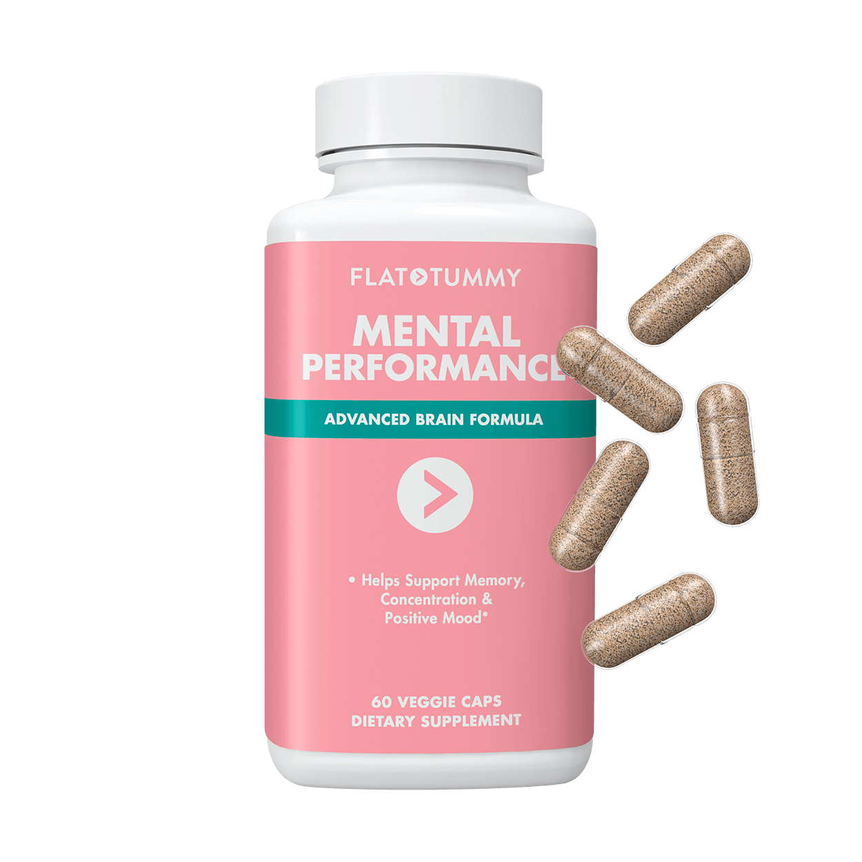Flat Tummy Co Supplements 1 Bottle Mental Performance